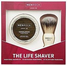 Парфюмерия и Козметика Комплект за бръснене - Men Rock The Life Shaver Sandalwood Kit (четка/1бр + крем/100ml)