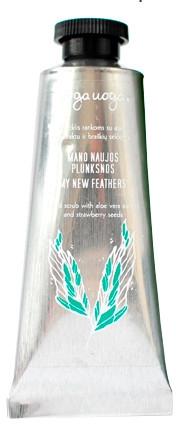 Скраб за ръце с екстракт от алое вера и ягодови семена - Uoga Uoga My New Feather Hand Scrub — снимка N1