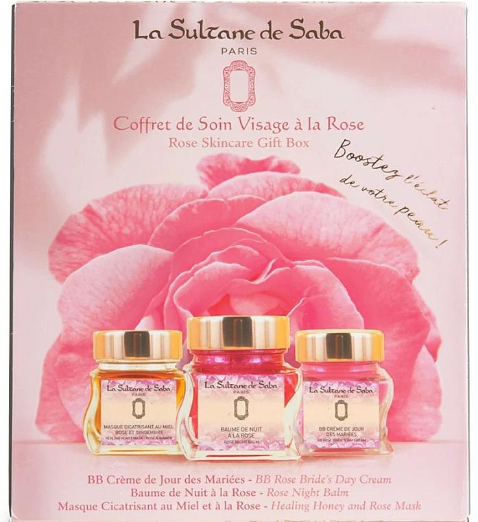 Комплект за лице - La Sultane de Saba Rose (балсам/50ml + крем/50ml + маска/50ml) — снимка N1