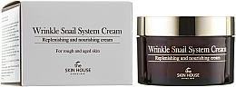Парфюмерия и Козметика Антистареещ крем за лице със слуз от охлюв - The Skin House Wrinkle Snail System Cream