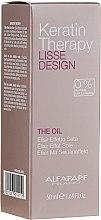 Парфюмерия и Козметика Кератиново масло за коса - Alfaparf Lisse Design Keratin Therapy Oil