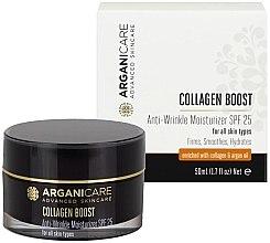 Парфюми, Парфюмерия, козметика Овлажняващ крем против стареене SPF25 - Arganicare Collagen Boost Anti Wrinkle Moisturizer SPF25