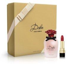 Парфюми, Парфюмерия, козметика Dolce & Gabbana Dolce Rosa Excelsa - Комплект (edp/50ml + lipstick/3.5g)