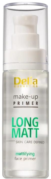 Матираща основа за грим - Delia Cosmetics Long Matt Make Up Primer