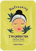 Парфюмерия и Козметика Хидрогелни пачове за очи със зелен чай - Tony Moly Refreshing Im Green Tea Eye Mask