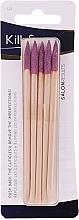 Парфюмерия и Козметика Дървени пръчици за кожички, розови, 5 бр. - KillyS
