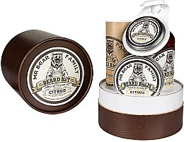 Парфюми, Парфюмерия, козметика Комплекти - Mr. Bear Family Citrus (oil/30ml + wash/250ml + wax/30ml + balm/60ml)