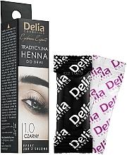 Парфюмерия и Козметика Къна за вежди на прах, черна - Delia Brow Dye Henna Traditional Black