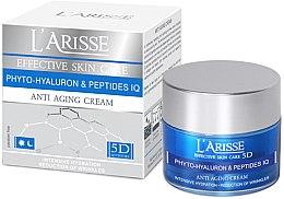Парфюми, Парфюмерия, козметика Крем против бръчки с хиалуронова киселина и пептиди 45+ - Ava Laboratorium L'Arisse 5D Anti-Wrinkle Cream Phytohyaluron + Peptides