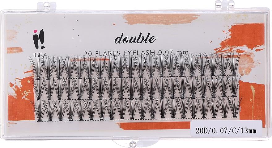 Мигли на снопчета, С 13 mm - Ibra 20 Flares Eyelash Knot-fre Naturals
