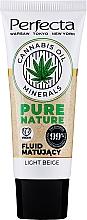 Парфюмерия и Козметика Матиращ флуид за лице - Perfecta Pure Nature Cannabis Oil Mattifing Fluid