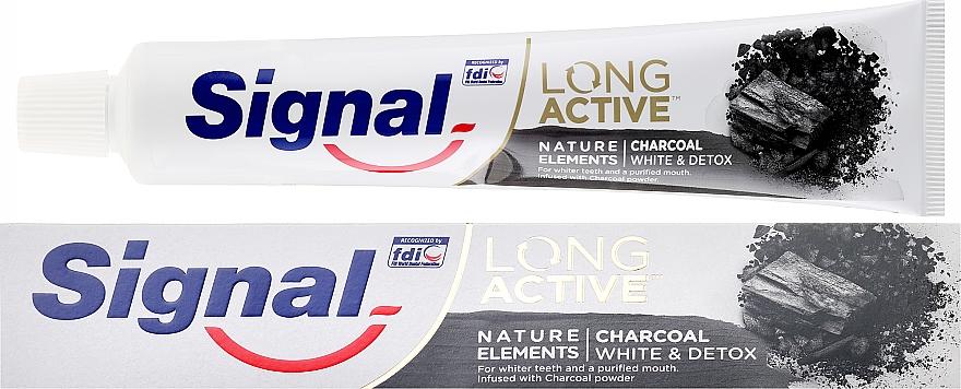 Паста за зъби - Signal Long Active Nature Elements Charcoal — снимка N1