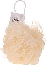 Парфюмерия и Козметика Гъба за баня , жълта - IDC Institute Design Mesh Pouf Bath Sponges