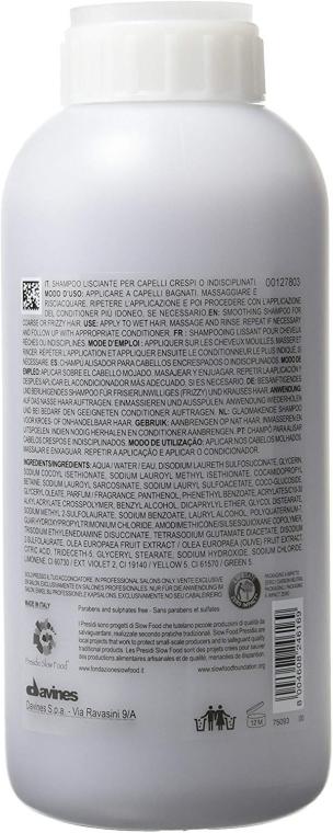 Шампоан за изглаждане на къдрици - Davines Shampoo Lisciante Addolcente — снимка N2