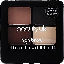 Парфюмерия и Козметика Палитра за вежди - Beauty UK High Brow and Eyebrow Kit