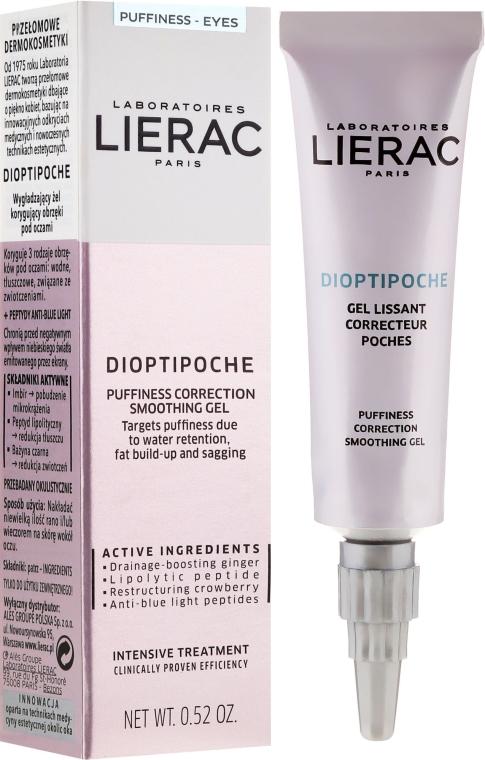 Успокояващ гел за околоочния контур - Lierac Dioptipoche Puffiness Correction Smoothing Gel