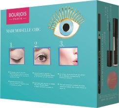 Парфюми, Парфюмерия, козметика Комплект спирала, молив за очи и руж - Bourjois Mademoiselle Chic (mascara/7.5ml + eye/pen/1.2g + blush/2.5g)