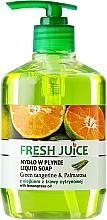 Парфюмерия и Козметика Течен сапун с глицерин - Fresh Juice Green Tangerine & Palmarosa