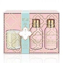 Парфюми, Парфюмерия, козметика Комплект за тяло - Baylis & Harding Pink Prosecco & Elderflower (душ гел/100 ml + лосион/100 ml + свещ/60g)