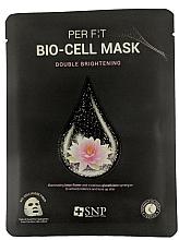 Парфюмерия и Козметика Биоцелулозна маска за лице с екстракт от лотос и глутатион - SNP Brightening Bio-cell Mask