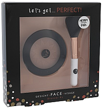 Парфюмерия и Козметика Комплект - Cosmetic 2K Let's Get Perfect! Bronzer Set Medium/Dark (bronzer/10g + brush/1pcs)