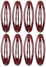 """Парфюмерия и Козметика Фиби за коса """"Oval Medium"""", 8 бр., кафяви - Titania"""