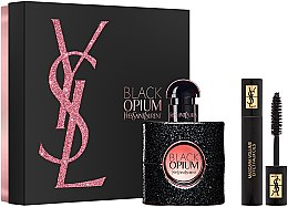 Парфюмерия и Козметика Yves Saint Laurent Black Opium - Комплект (парф. вода/30ml + спирала/2ml)