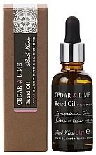 Парфюмерия и Козметика Bath House Cuban Cedar & Lime - Масло за брада