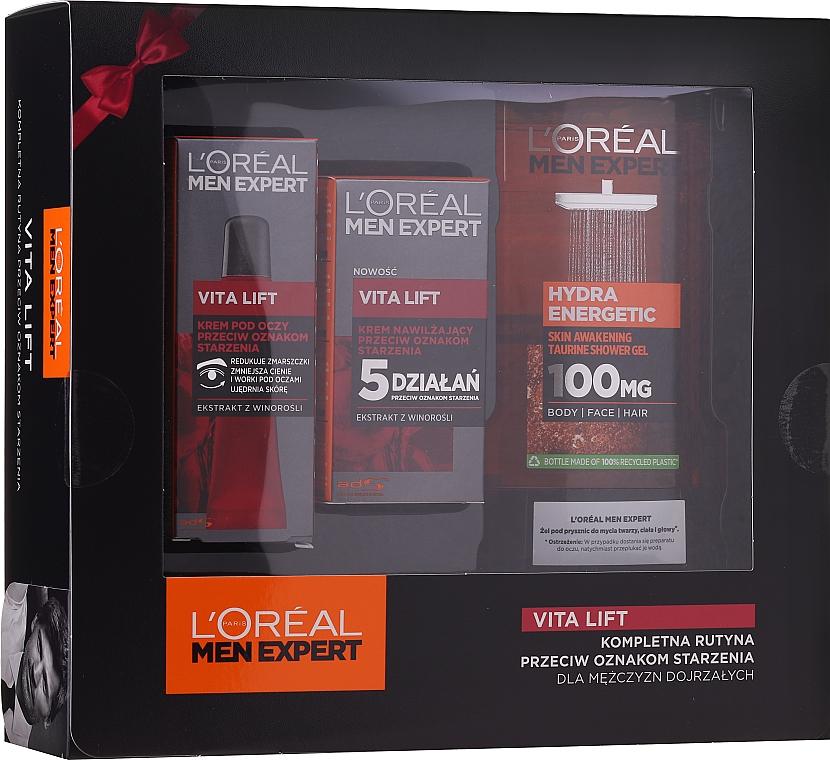 Комплект за мъже - L'Oreal Paris Men Expert (душ гел/300ml + крем за лице/50ml + околоочен крем/15ml)