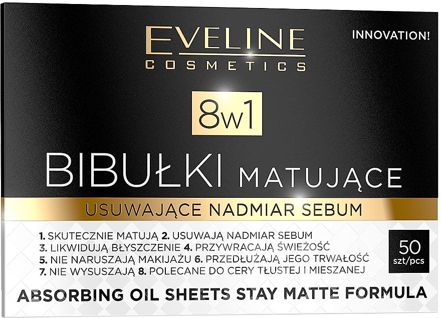 Матиращи листчета за лице - Eveline Cosmetics 8in1