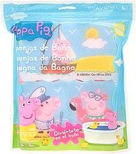 """Парфюми, Парфюмерия, козметика Комплект гъби за баня """"Прасето Пепа"""" 3бр, море - Suavipiel Peppa Pig Bath Sponge"""