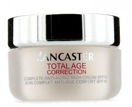 Парфюми, Парфюмерия, козметика Дневен крем против стареене - Lancaster Total Age Correction Complete Anti-aging Rich cream SPF15