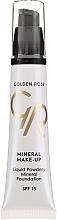 Парфюмерия и Козметика Минерален фон дьо тен - Golden Rose Liquid Powdery Mineral Foundation