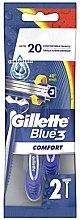 Парфюмерия и Козметика Комплект самобръсначки, 2 бр - Gillette Blue 3 Comfort