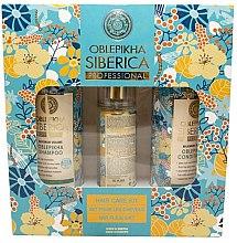 Парфюми, Парфюмерия, козметика Комплект - Natura Siberica Oblepikha Hair Care Kit (shm/400ml + cond/400ml + spray/125ml)