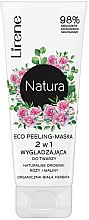 Парфюмерия и Козметика Пилинг маска за лице с екстракт от роза - Lirene Natura Eco Peeling-Mask