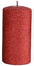 Парфюмерия и Козметика Декоративна свещ, червена, 7x18 см - Artman Glamour