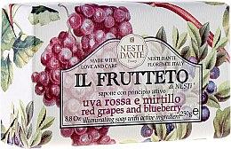 Парфюмерия и Козметика Сапун с екстракт от червено грозде и боровинки - Nesti Dante Il Frutteto