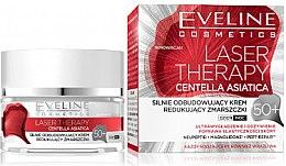 Парфюми, Парфюмерия, козметика Крем за лице 50+ - Eveline Cosmetics Laser Therapy Centella Asiatica 50+