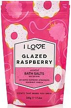 Парфюмерия и Козметика Соли за вана с аромат на глазирана малина - I Love Glazed Raspberry Bath Salt