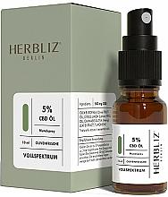 Парфюмерия и Козметика Спрей за уста с масло от маслина и канабидиол 5% - Herbliz CBD Olive Fresh Oil Mouth Spray 5%