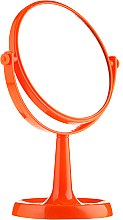 Парфюмерия и Козметика Огледало на стойка 85734, кръгло, 15,5 см, оранжево - Top Choice Colours Mirror