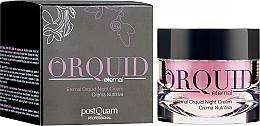 Парфюмерия и Козметика Овлажняващ нощен крем за лице - PostQuam Orquid Eternal Moisturizing Night Cream
