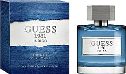 Парфюмерия и Козметика Guess 1981 Indigo For Men - Тоалетна вода