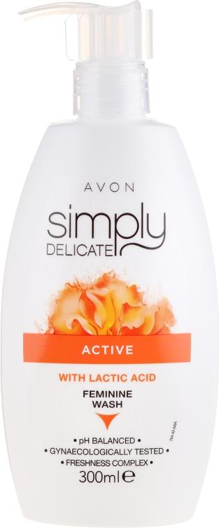 Крем-гел за интимна хигиена с млечна киселина - Avon Simpy Delicate Feminine Wash — снимка N1