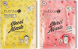 Парфюмерия и Козметика Двойна памучна маска за лице - Tea-Infused Face Sheet Mask Duo Lemongrass & Green Tea and Hibiscus & Acai Berry Tea