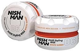 Парфюмерия и Козметика Стилизираща вакса за коса - Nishman Hair Styling Wax 06 Mystic Gummy