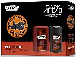 Парфюми, Парфюмерия, козметика STR8 Red Code - Комплект (тоал. вода/100ml + душ гел/250ml + магнитен държач)