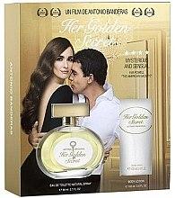Парфюмерия и Козметика Antonio Banderas Her Golden Secret - Комплект (тоал. вода/80ml + лосион за тяло/75ml)