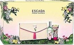 Парфюми, Парфюмерия, козметика Escada Fiesta Carioca - Комплект (edt/100ml + b/lot/150ml + bag)